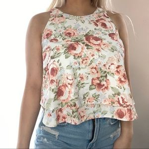 GUESS Rose Pattern Top